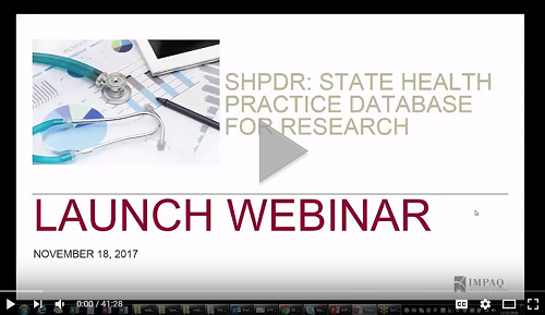 Image of SHPDR Launch Webinar Video First Screen