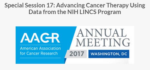 Logo for the American Association for Cancer Research (AACR) 2017 Annual Meeting