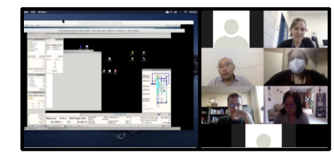 Remote training session with NCCAT