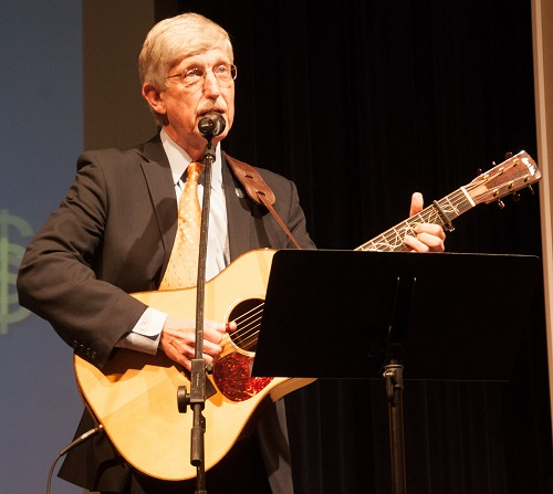 NIH Director Dr. Francis Collins singing and playing his guitar