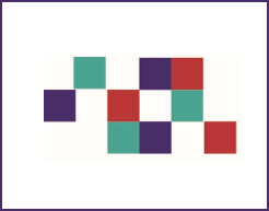 Colored squares from the graphic Identity of the HCS Collaboratory