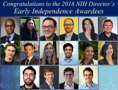Congratulations to the 2016 NIH Director's Early Independence Awardees! (pictures)