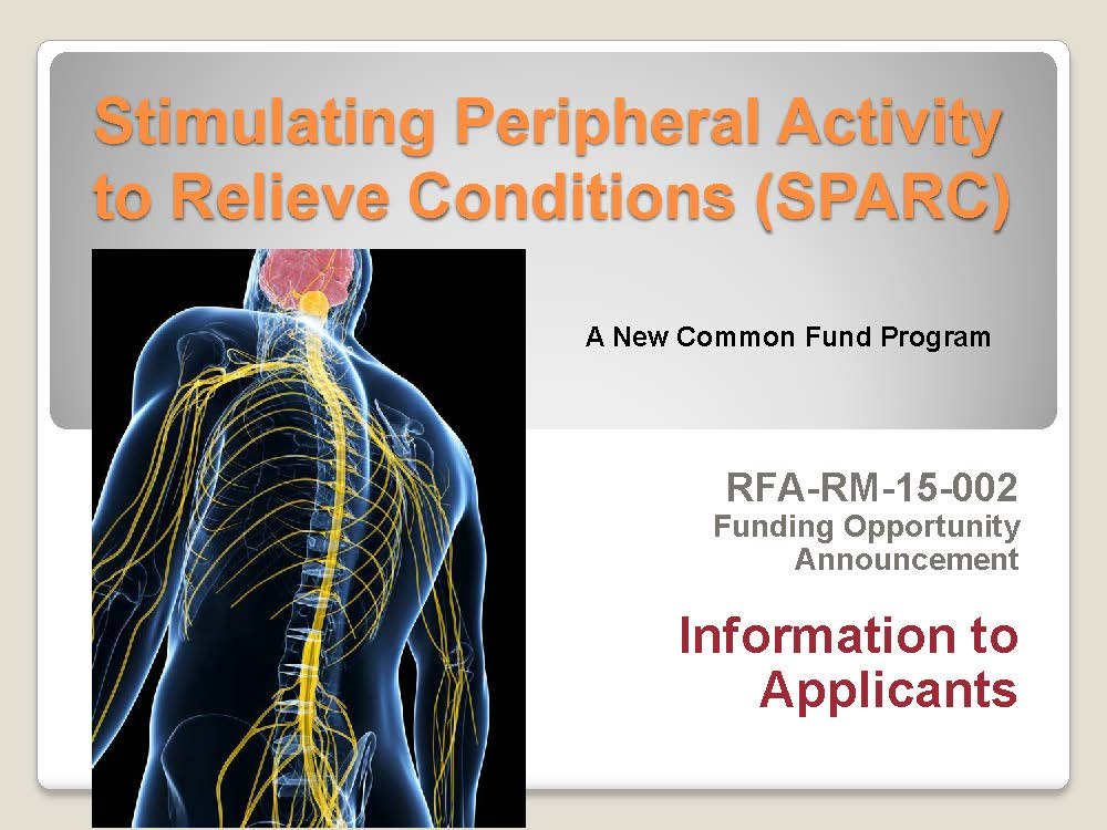 SPARC U18 FOA pre-application webinar slides