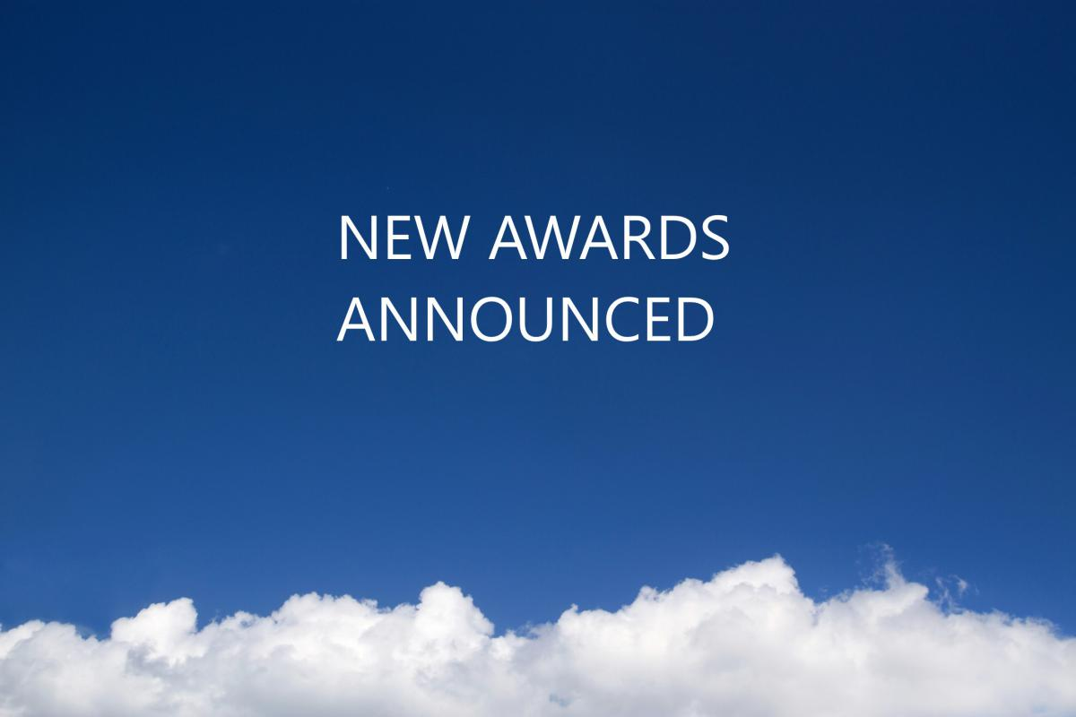 new awards announced