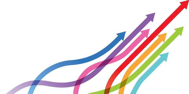 multi colored arrows