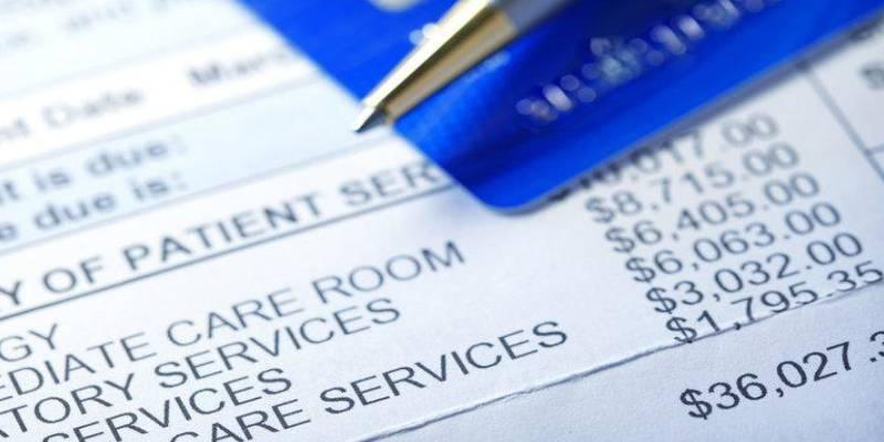 A stock image of a patient services bill