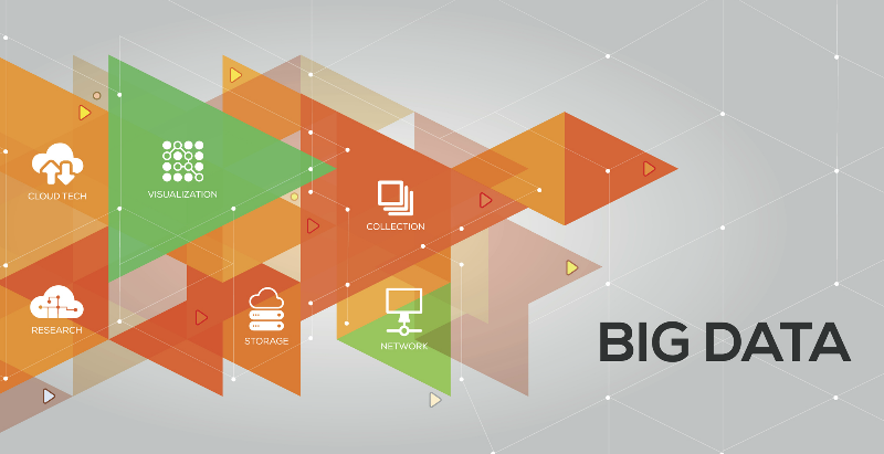 Big Data Banner with icons