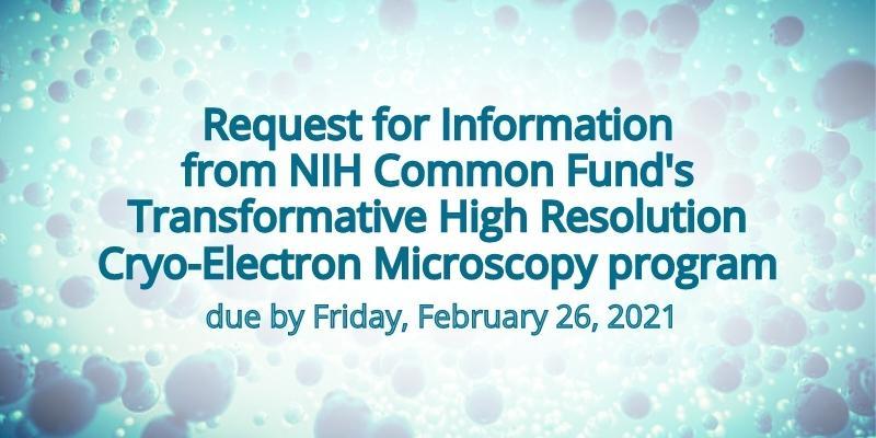 CryoEM program RFI announcement