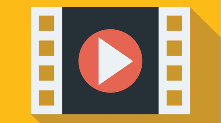 Filmstrip movie play icon