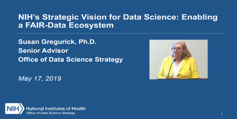 Susan Gregurick title slide for presentation at may council of councils on the office of data science strategy