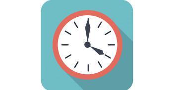 flat style clock