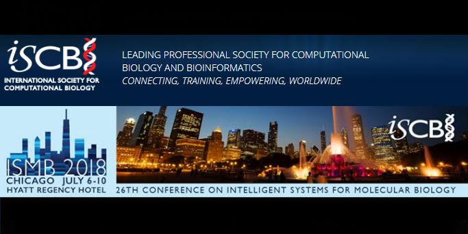 International Society for Computational Biology Meeting on July 6-10 in Chicago, Illinois.