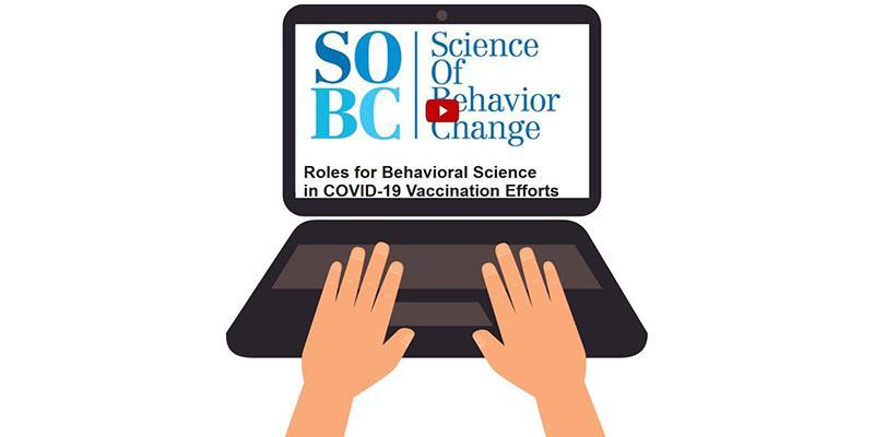 laptop screen displaying webinar title