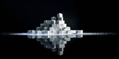 Picture of stacked sugar cubes