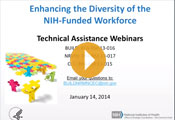 Enhancing the Diversity of the NIH-Funded Workforce Technical Assistance Webinar