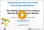 The NIH Common Fund Diversity Initiatives Webinar